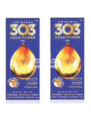 Original 303 Gold Power Oil - 15 ML Pack of 2