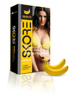 Skore Banana Condoms 10s
