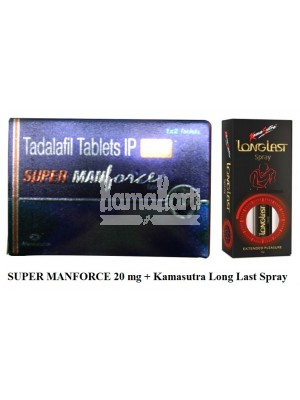 Super manforce 20 mg & Climax Delay Spray