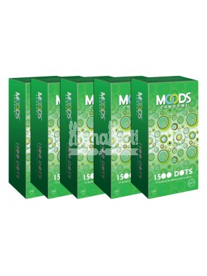 Moods 1500 Dots Condoms Combo