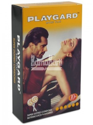 Playgard Butterscotch Flavoured Super Dotted Condoms - 10's Pack