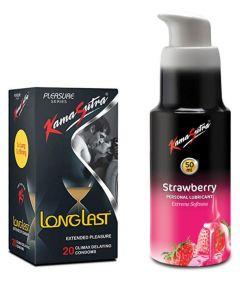 Kamasutra Lubes & Long Last Condom Spray Combo