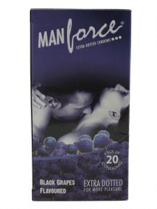 Manforce Dotted Black Grapes Flavored-20'S