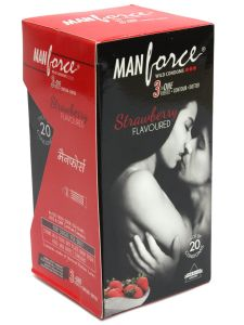 Manforce Strawberry Condoms 20s