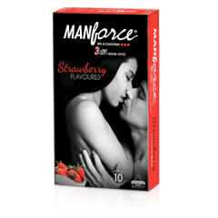 Manforce Strawberry Condoms 10s