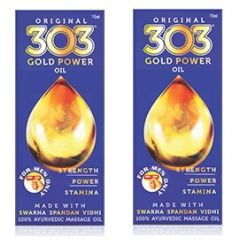 Original 303 Gold Power Oil - 15 ML Pack of 2