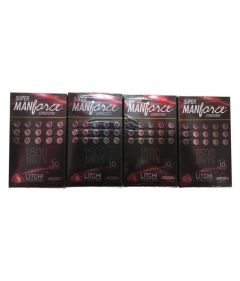 Super Manforce Condoms Litchi Flavoured 1500 Dots Premium Condoms 10s