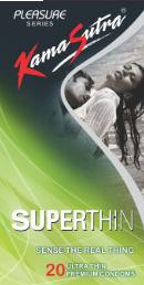 Kamasutra Superthin Condoms 20's Pack